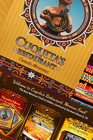 custom website design Cuquitas Mexican Restaurant in Dallas, Tx