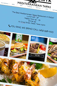 custom website design Armend's Restaurant in Southlake,Tx